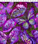 Dreamscapes 2 Purple Large Butterflies